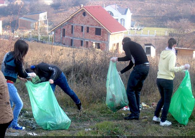110 voluntari pentru un Cluj mai curat