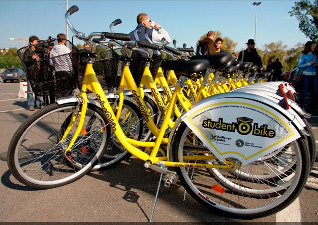 O sută de biciclete pentru studenții clujeni prin proiectul ecologic studentObike